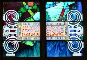 This is the attribution for the window...shows a little more dramatically the art nouveau style.