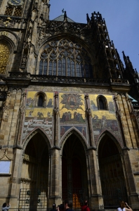 A detail of the south porch of St. Vitus Cathedral, this was the original entrance to the old church.