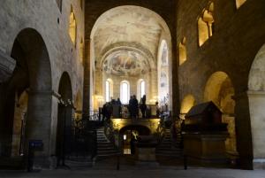 The Romanesque interior of St. George's Basilica, Prague