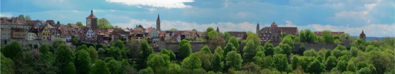 Panorama of the city of Rothenburg behind its walls
