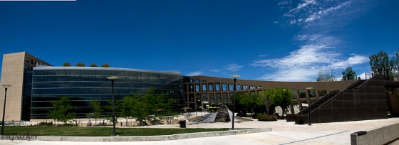 Panorama of the very cool Library Building