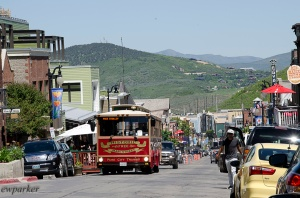 A losut picture, but I wanted to show you the bustling main street of Park City