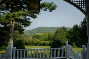 the view from the front porch of the house - see why they built it this way?