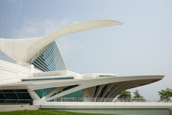 The Milwaukee Art Museum - Quadracci Pavillion designed by Santiago Calatrava