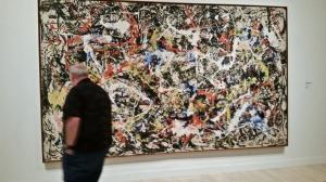 "Milwaukee Art Museum Show ""Van Gogh to Pollock: Modern Rebels"" gallery shot of the Pollock on display"
