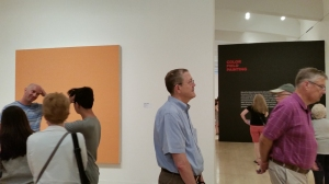 "Milwaukee Art Museum Show ""Van Gogh to Pollock: Modern Rebels"" gallery shot. Note the head scratching!"