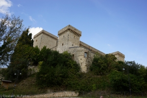 And here it is: La Rocca de _________ (Rocca means fortress)