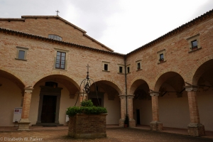 The courtyard of the Saint Ubaldo Basilica