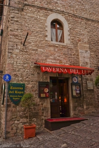 Our dinner restaurant in Gubbio