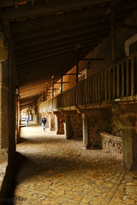 In the monastery, this section served to house pilgrims (rooms on the upper level) and stable horses (mangers on the lower).