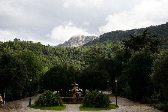 The view of the Serra Tramuntana from Lluc.