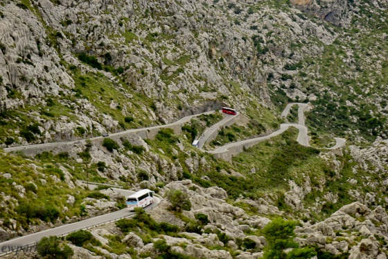 The road to Cala Tuent and Sa Calobra. Curves anyone?