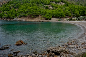 Cala Tuent - bigger than my ideal cove.