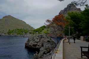 The walkway between Sa Calobra and the Torrent des Pareis