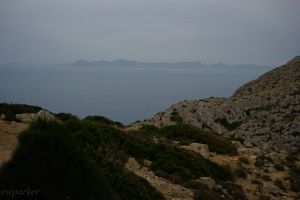 View of Menorca out there on the horizon.