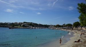 This is the beach at Portocristo - both beach and harbor right in the middle of town.