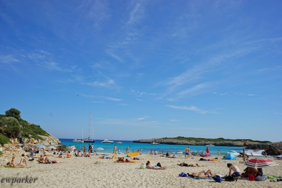 The beach at Cala Varques. Worth the walk!