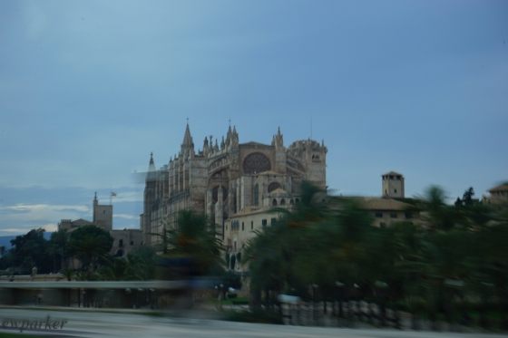 I know this is a lousy picture - but it shows you the two things I wanted you to see: 1) that I was driving past in the car and 2) the full Gothic-ness of the Seu.