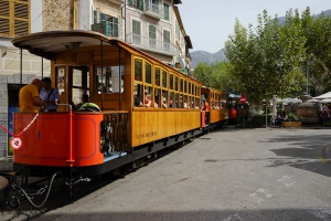 The famous wooden train of Soller