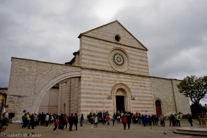 Basilica di Santa Chiara is made from the beautiful pink stone.