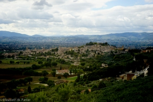 View along the walk back to Spello.