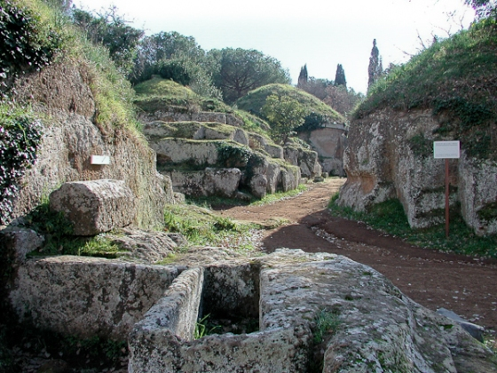 Short of the cemetery at Cerveteri