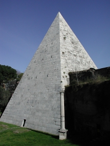 The Pyramid! Cemetery is behind it.