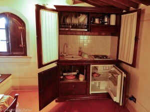 The kitchen in the armoire