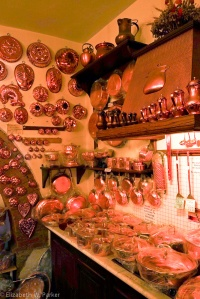 The copper shop. There was too much to choose from!