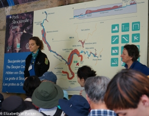 Check out the map behind the guides - it shows the underground portions of the caves.