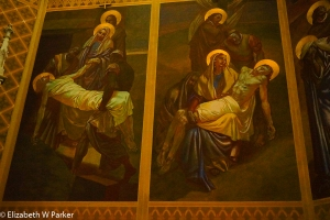 Paintings by Slovko Pengov in the Church of St. Martin.