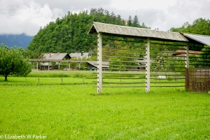 Slovenian hay racks - the kozolec