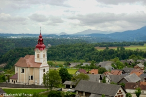 A view of the countryside near Bled.