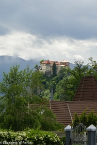 Bled Castle as seen from the back (from the land).