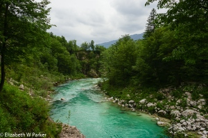 The Soca River - Yes! That color is real!