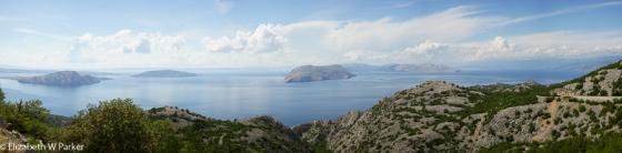 View from the scenic road out into the Kvarner Gulf (or Bay)