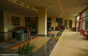 The lobby of the Hotel Plitvice, state-owned and run.