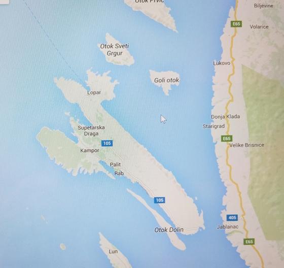 rab Island map