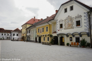 the town square in Radovljica.