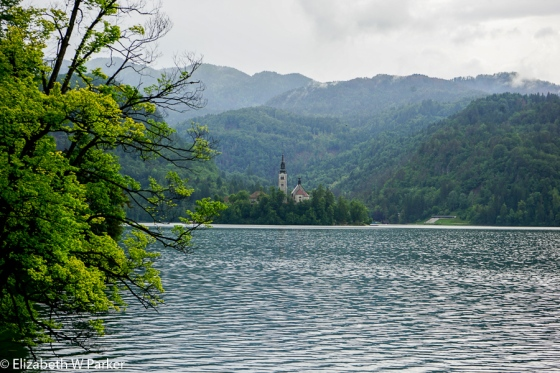 The first, but not the last, image you will see of the famous chapel on Lake Bled.