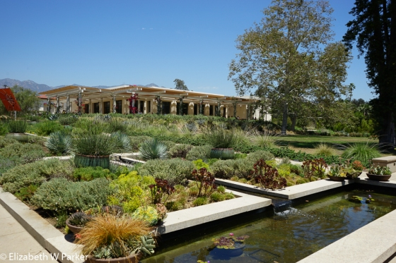 The Huntington Gardens - Look how well the architecture of the restaurant blends with the gardens.