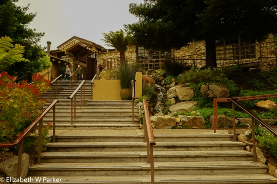 The entrance to the Hyatt Carmel Highlands