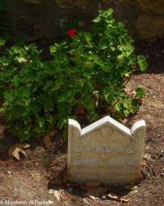Grave of Juana Maria Arellanes - the Native American woman who survived alone on an island for 18 years - in the cemetery at Mission Santa Barbara