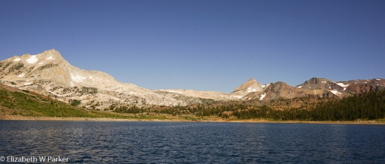 From Saddlebag Lake - panorama of the Sierra Nevada