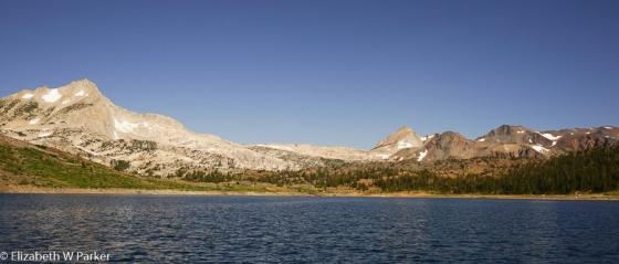 From Saddlebag Lake - panorama of the Sierra Nevada
