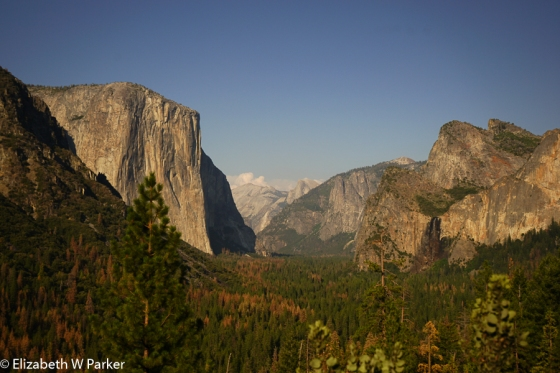 The view of Yosemite Valley from Tunnel View