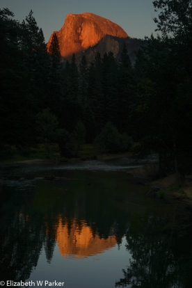 Half Dome - Sunset Glow