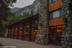 Windows of the Ahwahnee Hotel Dining room