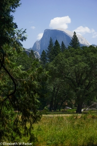 This is Half Dome from Yosemite Valley