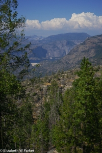 you see that white scar on the landscape? That is the dam that creates the reservoir at Hetch Hetchy.